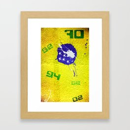 Brazil World Cup Framed Art Print