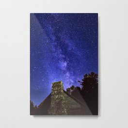 Our Milky Way Over Preacher Brown's Cabin Off Blue Ridge Parkway NC Metal Print