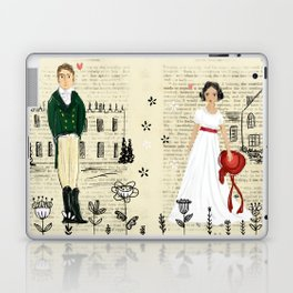 Mr.Darcy of Pemberley and Miss Bennet of Longbourn Laptop & iPad Skin