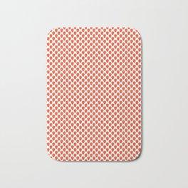 Red Strawberry Pattern Bath Mat