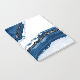 Agate Glitter Glam #14 #gem #decor #art #society6 Notebook