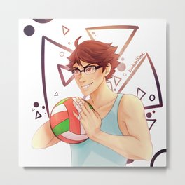 Glasses Oikawa  Metal Print
