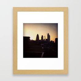 6th floor view Framed Art Print