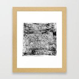 Elephant Printwork Framed Art Print