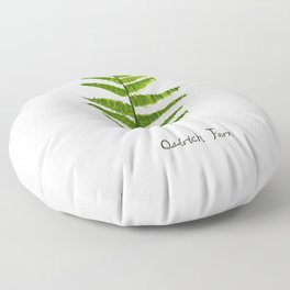 Ostrich fern Floor Pillow
