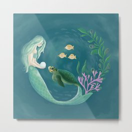 Mermaid's Gift Metal Print