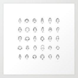 30 High-Cheek Bones  Art Print