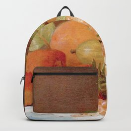 Still Life With Apricots & Berries Backpack