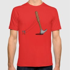 end of hammer dictatorship Red 2X-LARGE Mens Fitted Tee