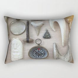 A Compass and Antlers and Artifacts, OH MY! Rectangular Pillow