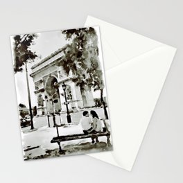 The Arc de Triomphe Paris Black and White Stationery Cards