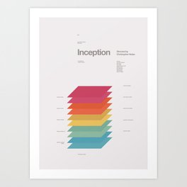 A MOVIE POSTER A DAY: INCEPTION Art Print