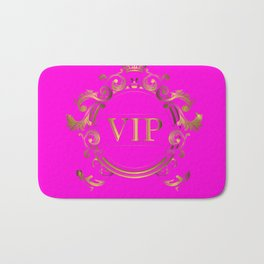 VIP in Hot Pink and Goldtones Bath Mat