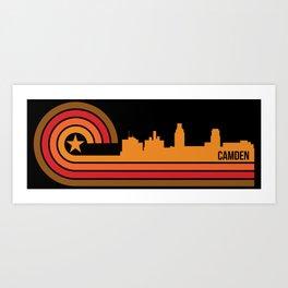 Retro Camden New Jersey Skyline Art Print