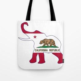 The California Republican elephant flag Tote Bag