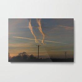 English Sky at Sunset Metal Print