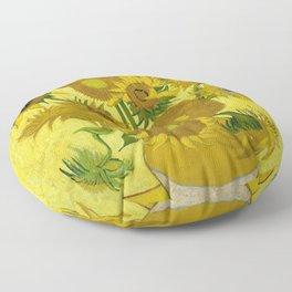 Vincent van Gogh : Sunflowers 1889 Floor Pillow