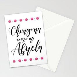 Chingona como mi Abuela Stationery Cards