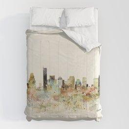 Boston Massachusetts skyline Comforters