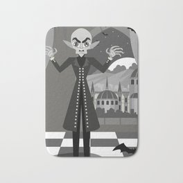 evil bald vampire Bath Mat
