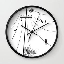 Hang Out Wall Clock