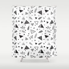 Organic Triangles Shower Curtain