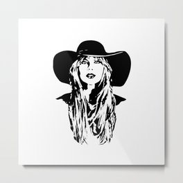 PORTRAIT OF A FEMALE POP SINGER AND SUPERSTAR Metal Print