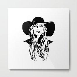PORTRAIT OF A FEMALE POP SINGER AND SUPERSTAR Metal Print