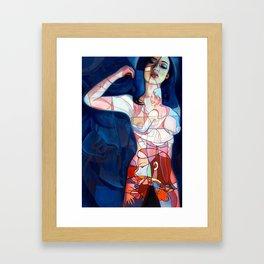 """""""Abstrotica Blue"""" Framed Art Print"""