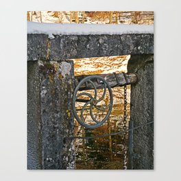 The wheel at the lock Canvas Print
