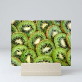 Kiwi green fruit pattern Mini Art Print