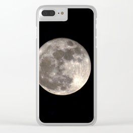 Can you see the man in the Moon smiling at us? Clear iPhone Case