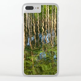 reflection wave pine Clear iPhone Case