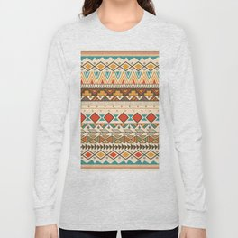 Aztec Hippy Pattern Long Sleeve T-shirt