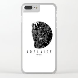 Adelaide White Round Clear iPhone Case