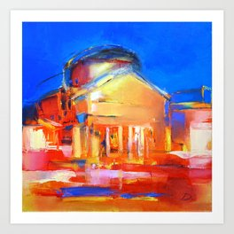 "Oil Painting ""Night"" By Diana Grigoryeva Art Print"