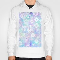 snowflake Hoodies featuring Snowflake by Arushi Puri