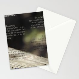 The Four Agreements 4 Stationery Cards