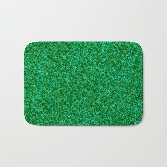 Scratched Green Bath Mat