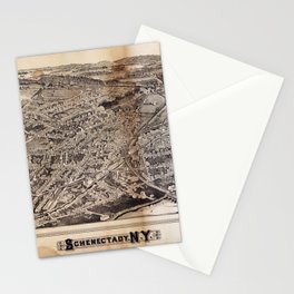 Aerial View of Schenectady, New York (1882) Stationery Cards