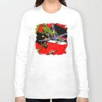 kaiju Long Sleeve T-shirts featuring Kaiju Attack by sasha alexandre keen