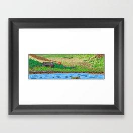 Yellow Boat Framed Art Print