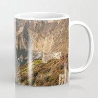 league Mugs featuring Slieve League by Marie Carr