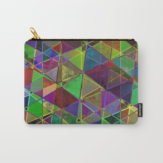 Tangled Triangles - Abstract, textured, geometric design Carry-All Pouch