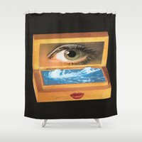 poem Shower Curtains featuring The poem object of dreams  by Mariano Peccinetti
