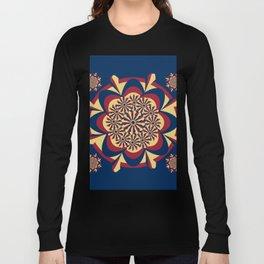 tricolor mandala oattern Long Sleeve T-shirt