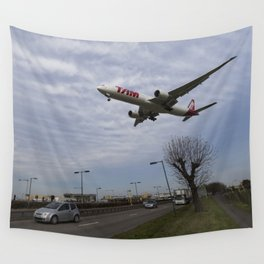 Tam Boeing 777 Heathrow Airport Wall Tapestry