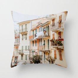 Manarola Cinque Terre Throw Pillow