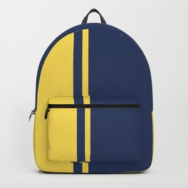 Yellow and Blue Pattern Backpack