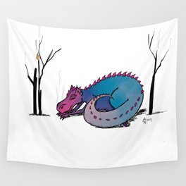 Let Sleeping Dragons Lie Wall Tapestry